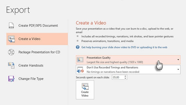 Chuyển PowerPoint sang video